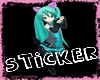 Miku Neko Dance Sticker