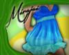 M * Neon Blue Dress