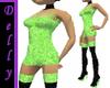 ~D~green short dress