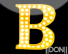 B YELLOW Letters Lamp