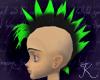 Mohawk Black Neon Green