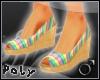 Cork Wedges .m.[rainbow]