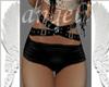 Short negro con cintas