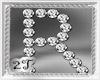 ~2T~ R  Letter Diamond
