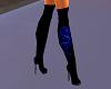 Blue Neon Dragon Boots