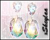 $ GemDrop Earrings Clear