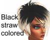 Black-straw-colored