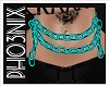 !PX TEAL BELLY CHAINS