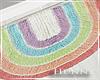 H. Poppy Rainbow Mat