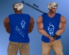 RQ-Blue Skull  Shirt
