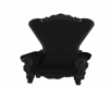 black antique throne