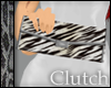 Leather Zebra Clutch