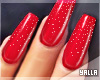 GEL Coffin Nails RED G