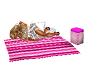 pink beach blanket