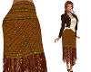 TF* Fringed Jewel Skirt