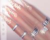 Shimmer Nails Rings