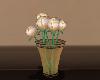 gold roses w/ vase
