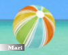 !M! Beach Ball Orange/Gr