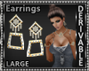 SquareDiamon Earrings Lg