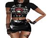 Skull outfit skirt