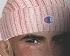 champions beanie pink