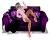 Plum Passion Love Couch