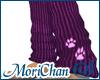 Dusty purple paws sock