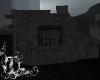 dark ruin building