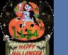 Halloween Globe Sticker
