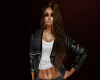 (SL) Leather/White Jacke