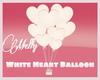 White Heart Balloons