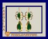 (CR) Green-Gld Earrings