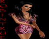 {r} Pink Leopard Dress