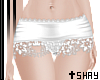 S~ White Lace Bottom
