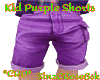 *ZD* Kids Purple Shorts
