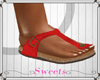 .:S:. Red Birkenstocks