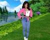 Blue Jeans & Pink Belt
