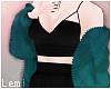 LM:Teal fur coat layer