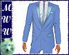 Lt Blue Suit Coat w/Tie