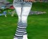 Jeans W/ Blue Leggings