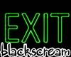 exit neon sign