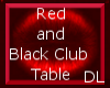 Red and Black Club Table