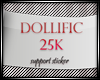 D/25K Support Sticker