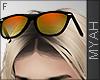 & Orange Glasses Head