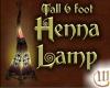 6 Foot Tall Henna Lamp
