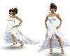 {LM}white feather dress