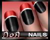 *NoA*Nails Black / Red