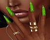 !P! Rings Lime Nails