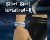 Silver Steel Wristband-R