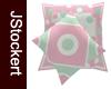 Sherbet Throw Pillows #2